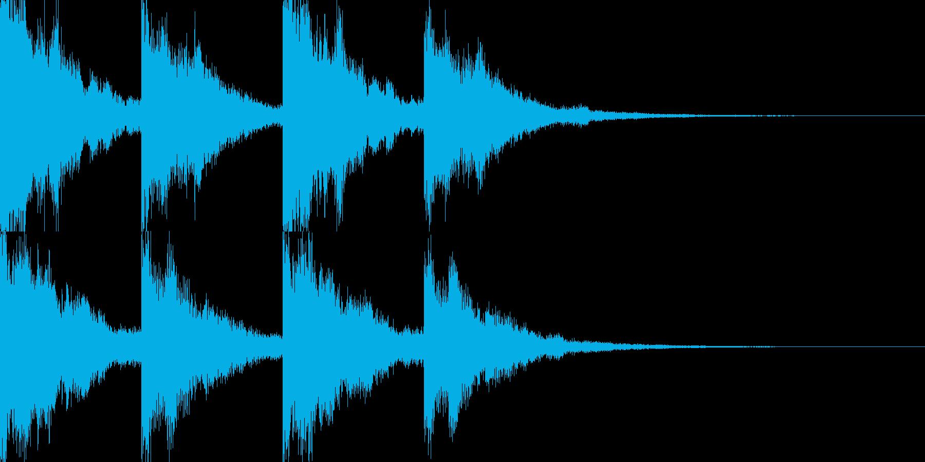サウンドノベルに合いそうな音の再生済みの波形