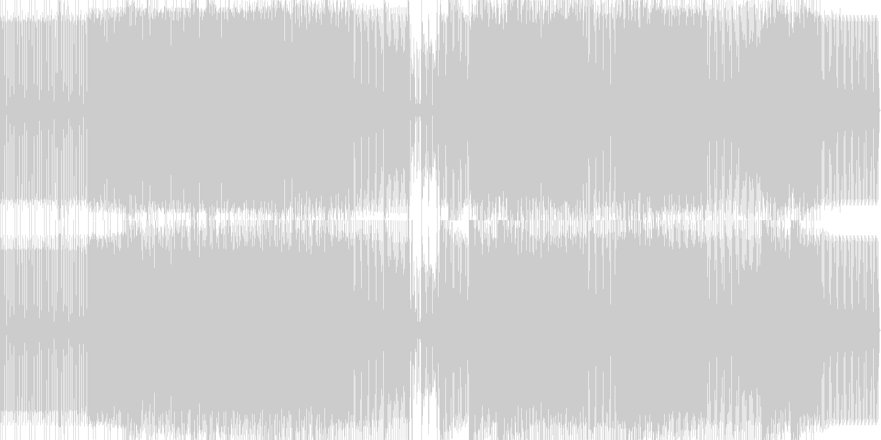tech house の未再生の波形