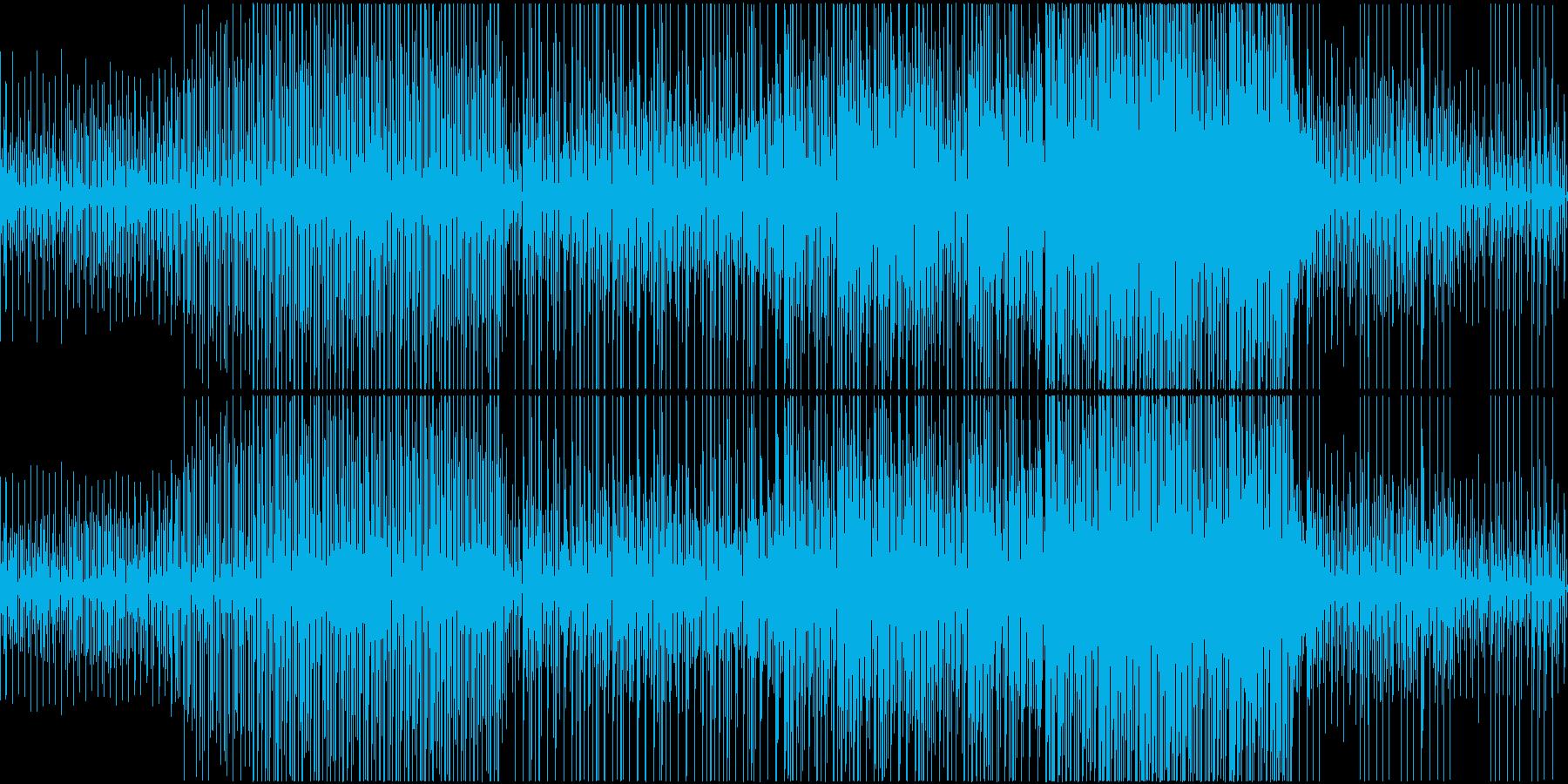ゆったりテンポが心地いい癒し系楽曲の再生済みの波形