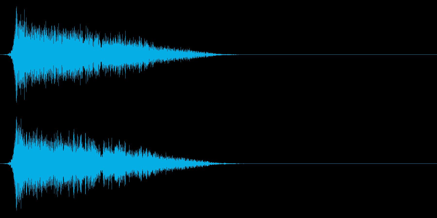 コミカルなダッシュ!ジャンプの効果音5cの再生済みの波形