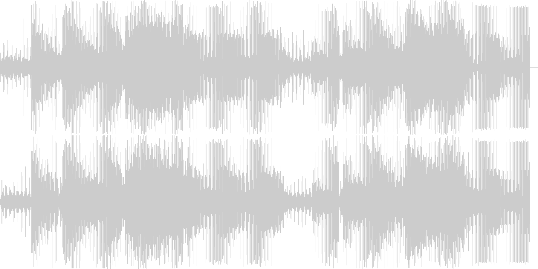 3連符のシーケンスと硬質なテクノの未再生の波形