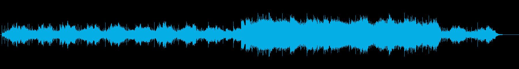 星空の伊吹と呼応する大地のようなイメージの再生済みの波形