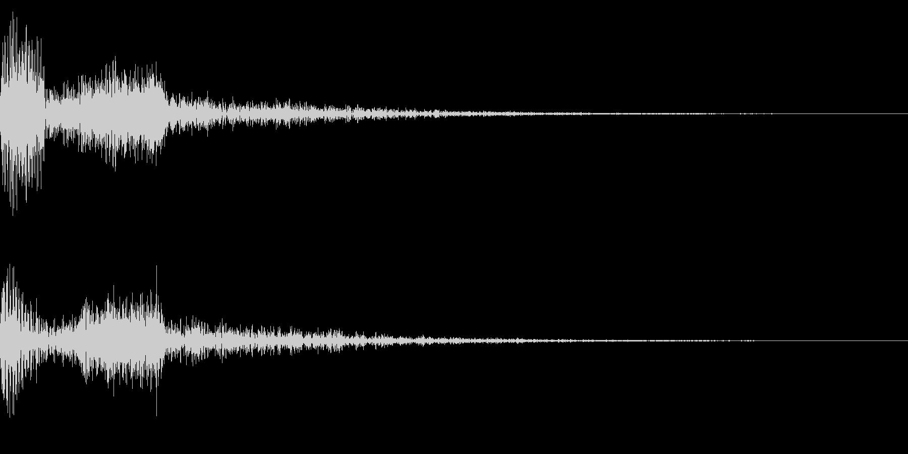 ホラー系アタック音33の未再生の波形