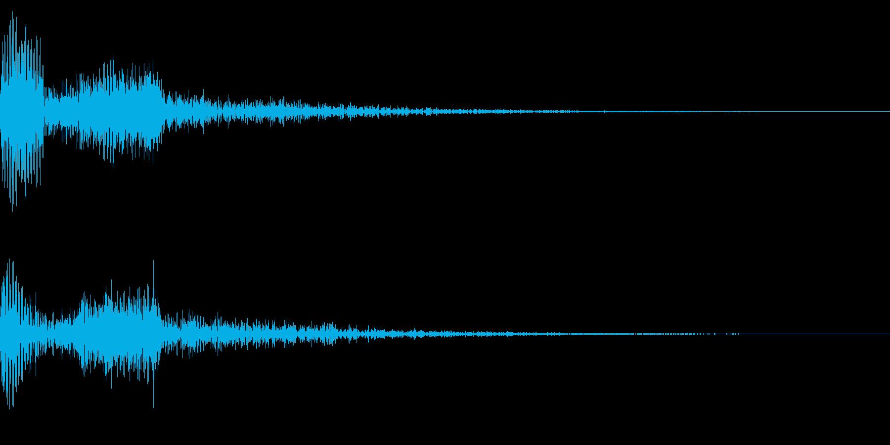 ホラー系アタック音33の再生済みの波形