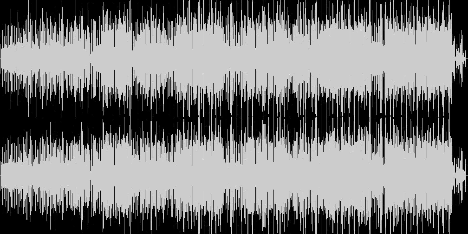 街のノイズをベースにしたエレクロニカの未再生の波形