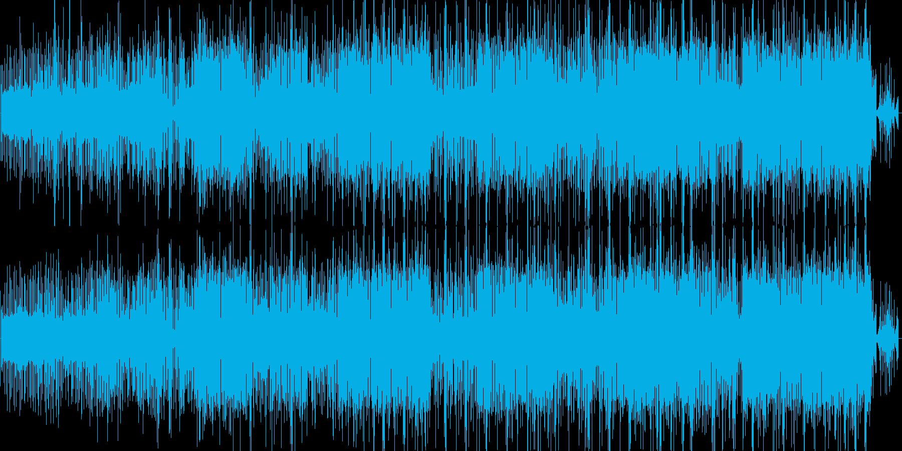 街のノイズをベースにしたエレクロニカの再生済みの波形