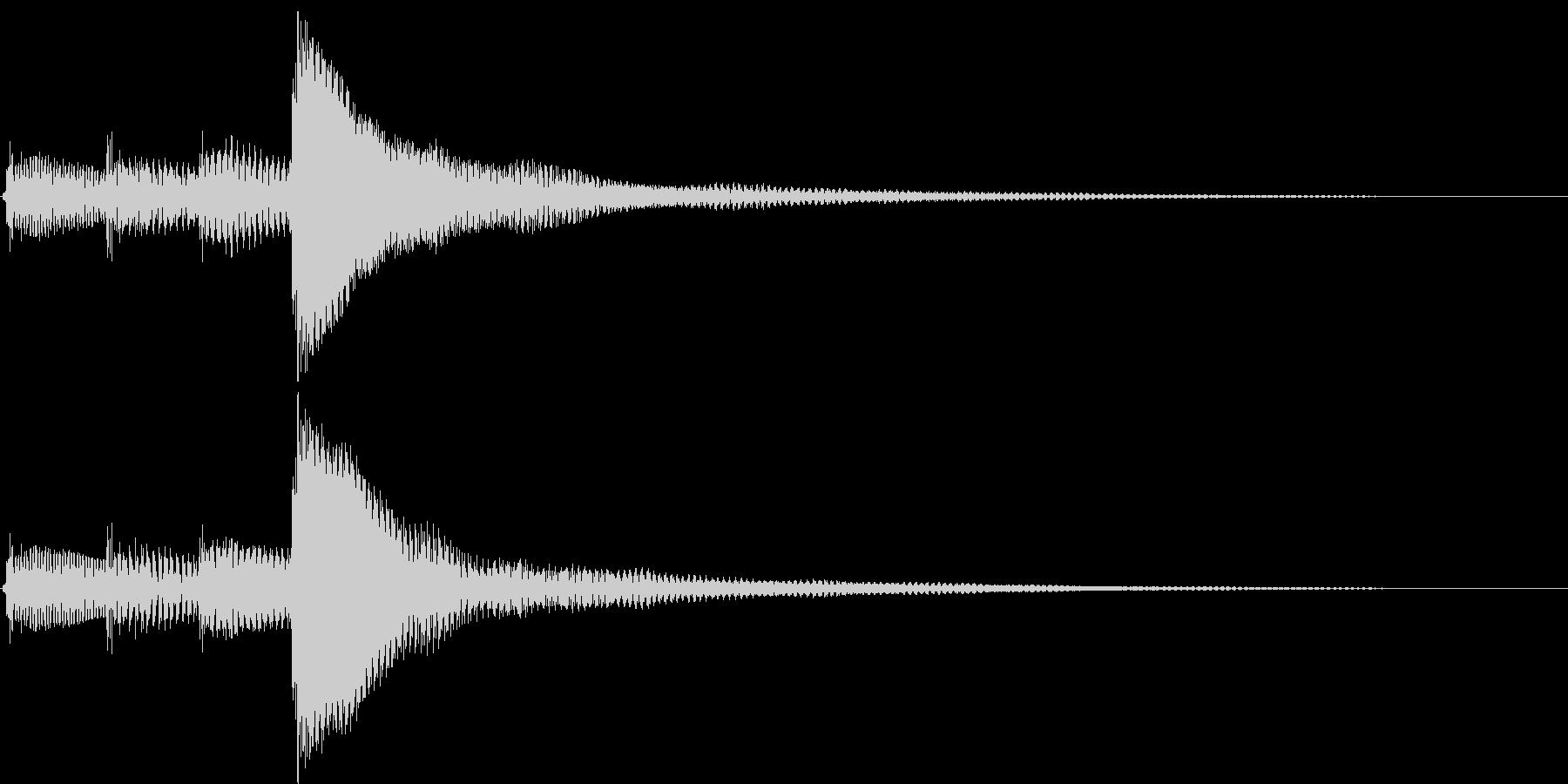 ポロロン(決定、アイテム表示、アイテム)の未再生の波形