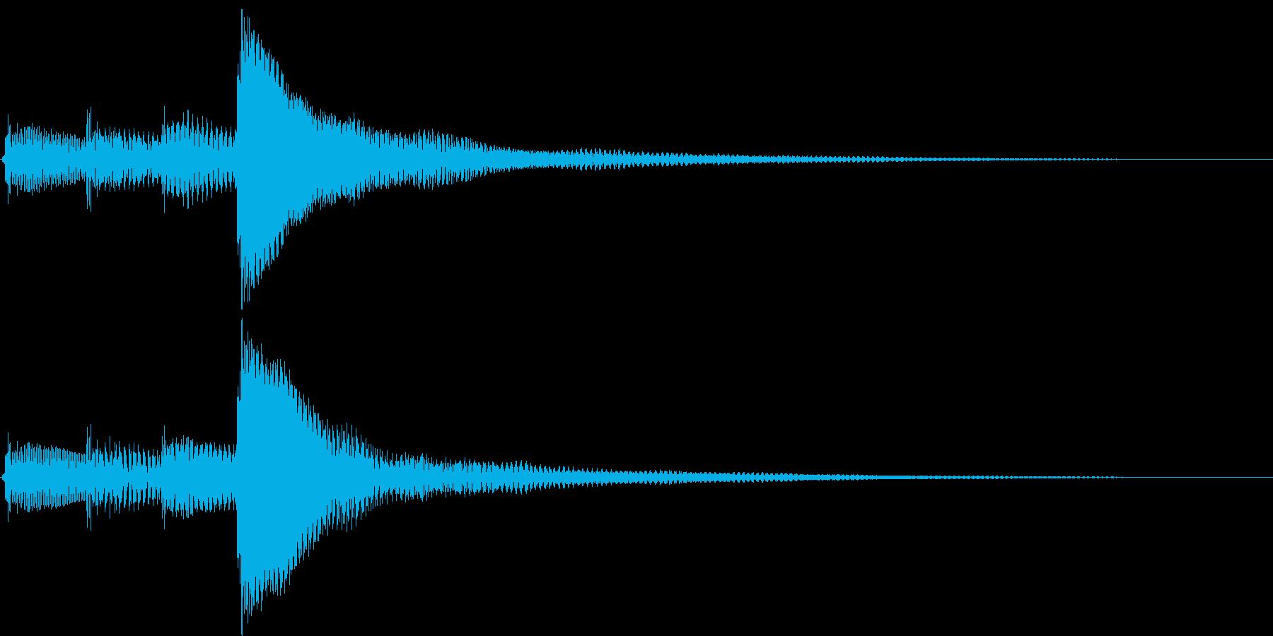 ポロロン(決定、アイテム表示、アイテム)の再生済みの波形