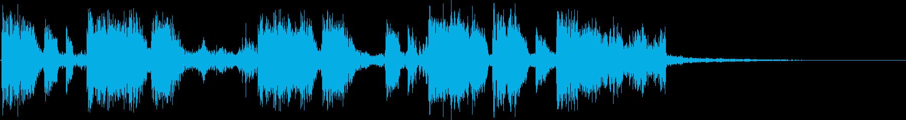 ヒップホップっぽいマイナーのジングルの再生済みの波形