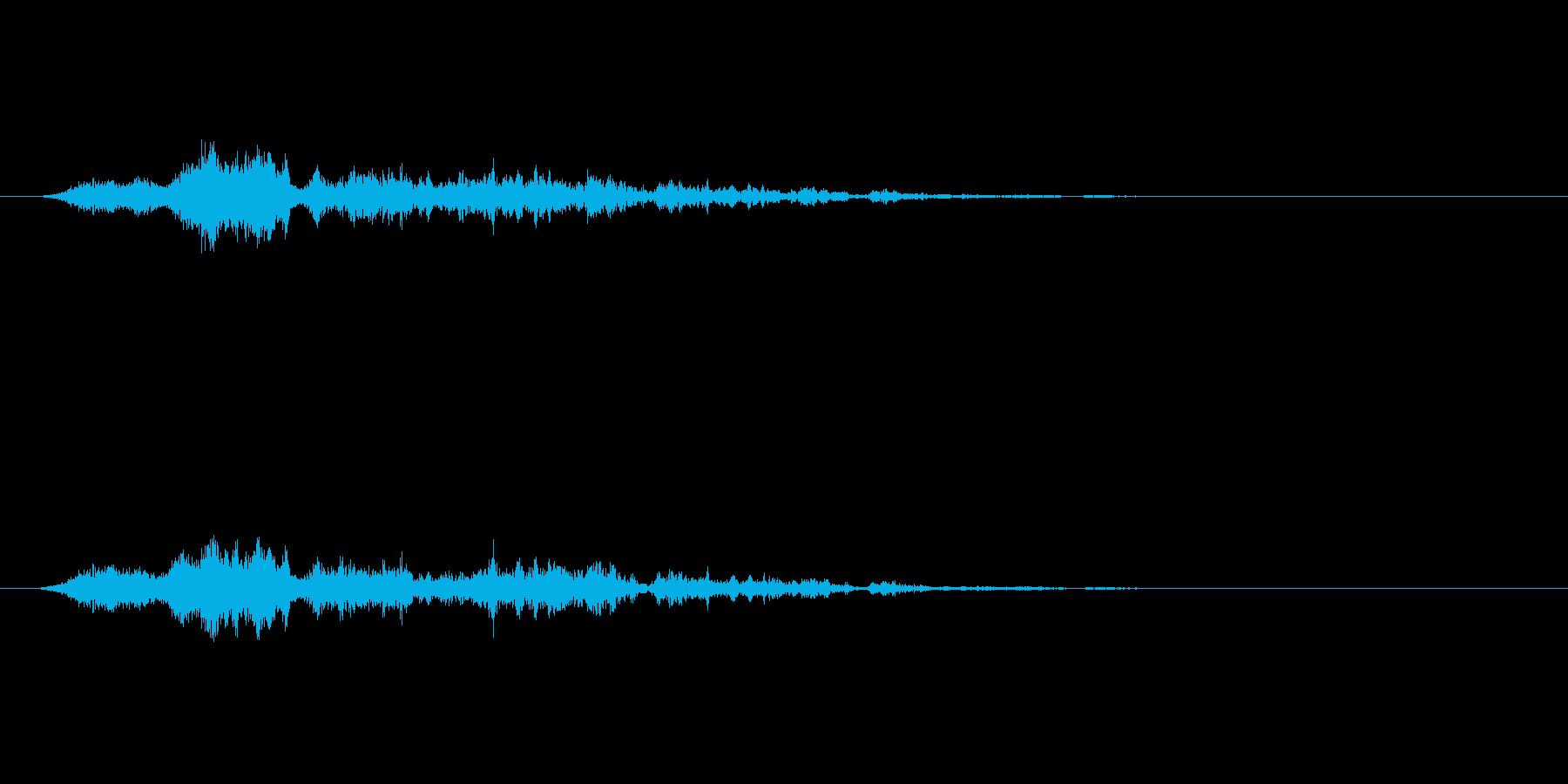 【SE 効果音】風(ホラー)3の再生済みの波形