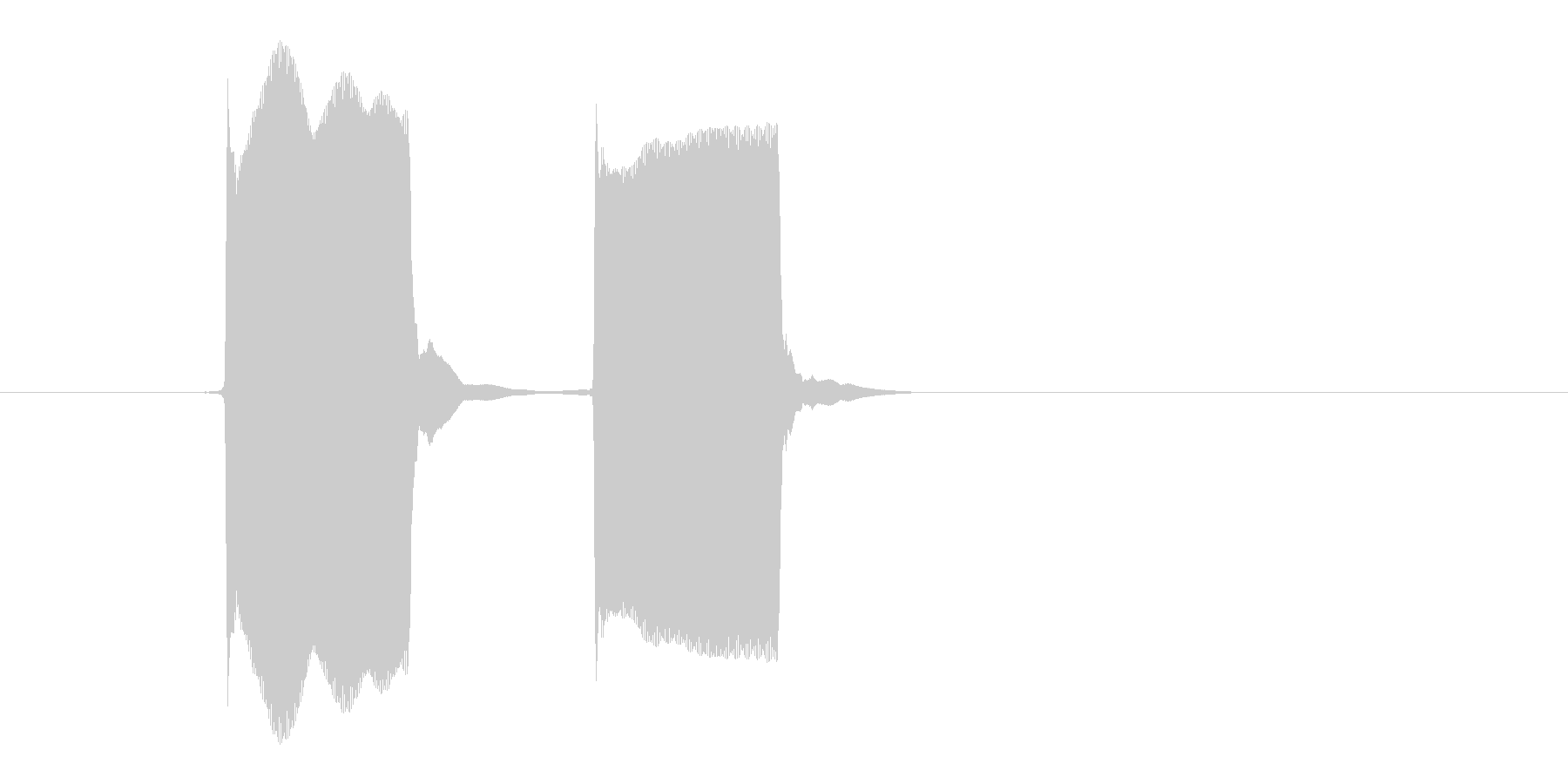 ピーピー(目覚まし時計、アラーム)の未再生の波形