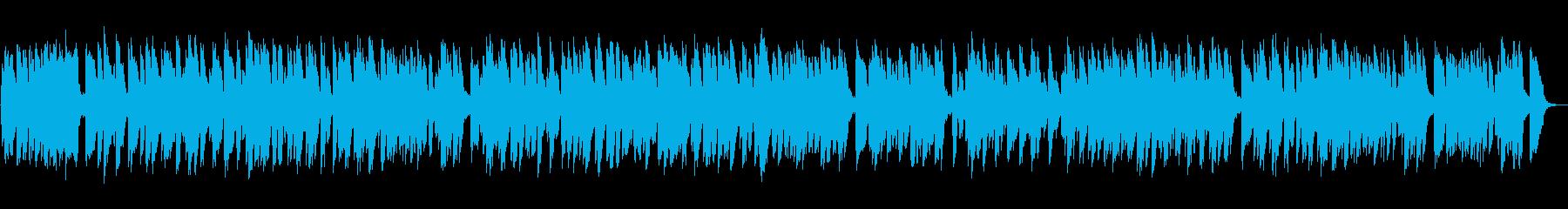 楽しいコミカルなラグタイムピアノソロの再生済みの波形