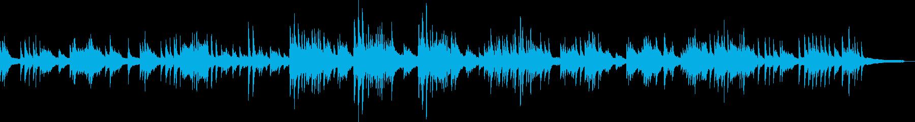 ピアノのシンプルで優しいメロディの再生済みの波形