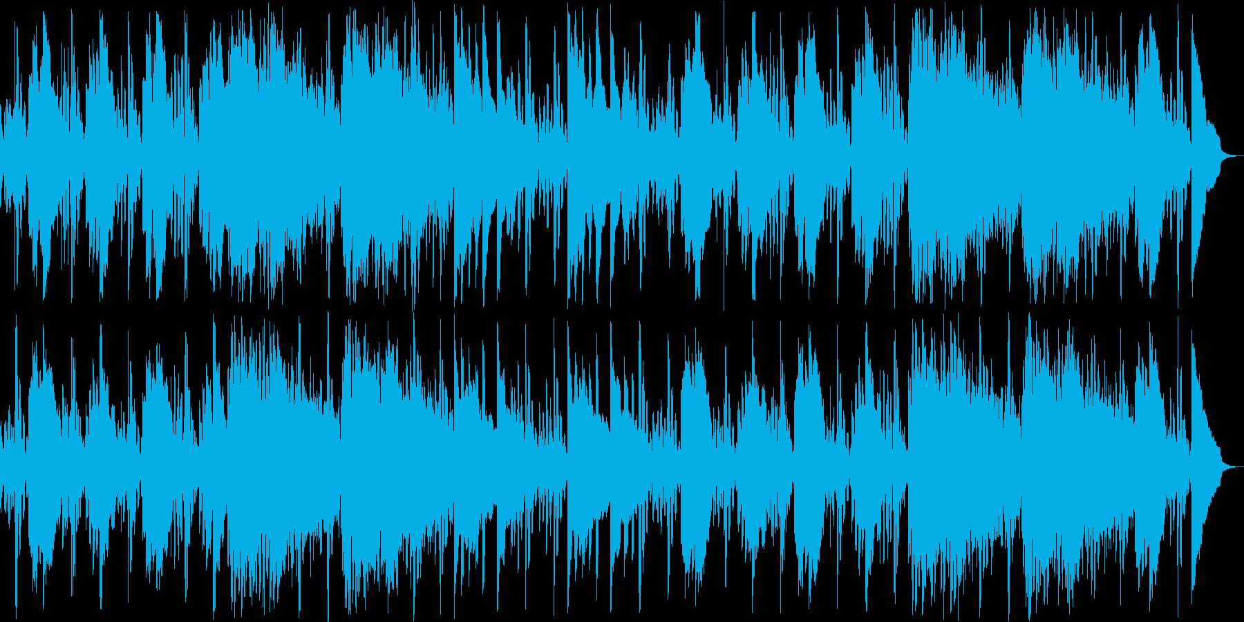 眠りを誘うリラクゼーション系ヒーリング曲の再生済みの波形