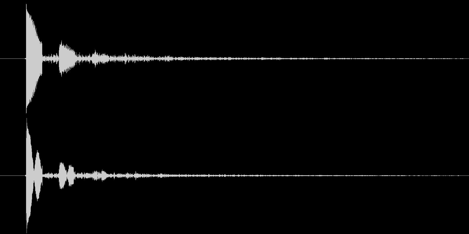 ぽたっ(水滴)の未再生の波形