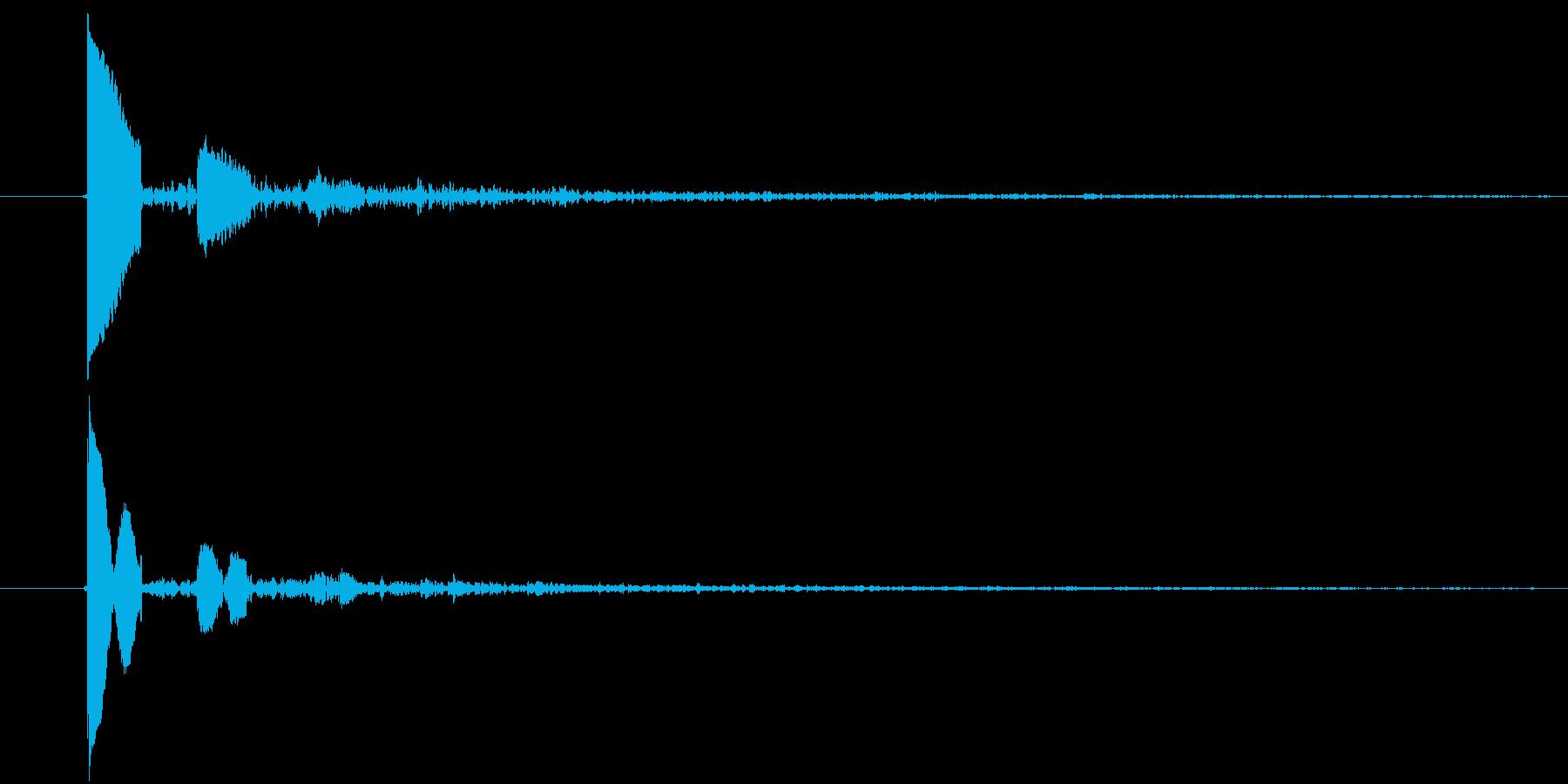 ぽたっ(水滴)の再生済みの波形