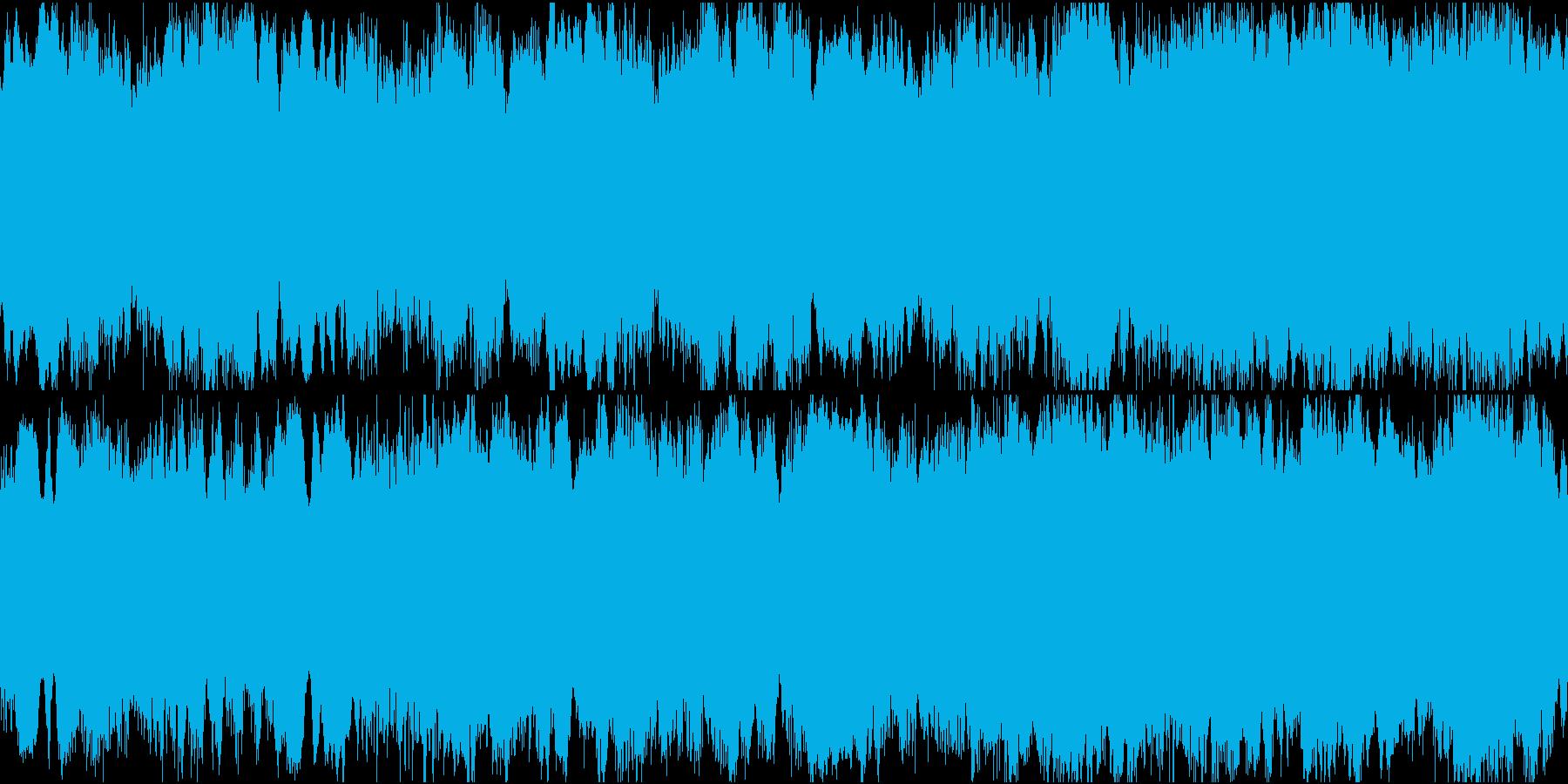 ループ対応のアンビエント・ミュージックの再生済みの波形