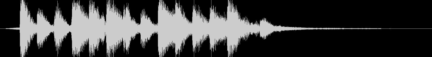 【ジングル】ほのぼの系ジングルの未再生の波形