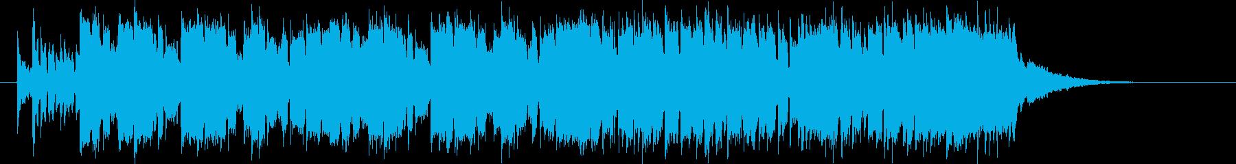 疾走するキラキラ・テクノの再生済みの波形