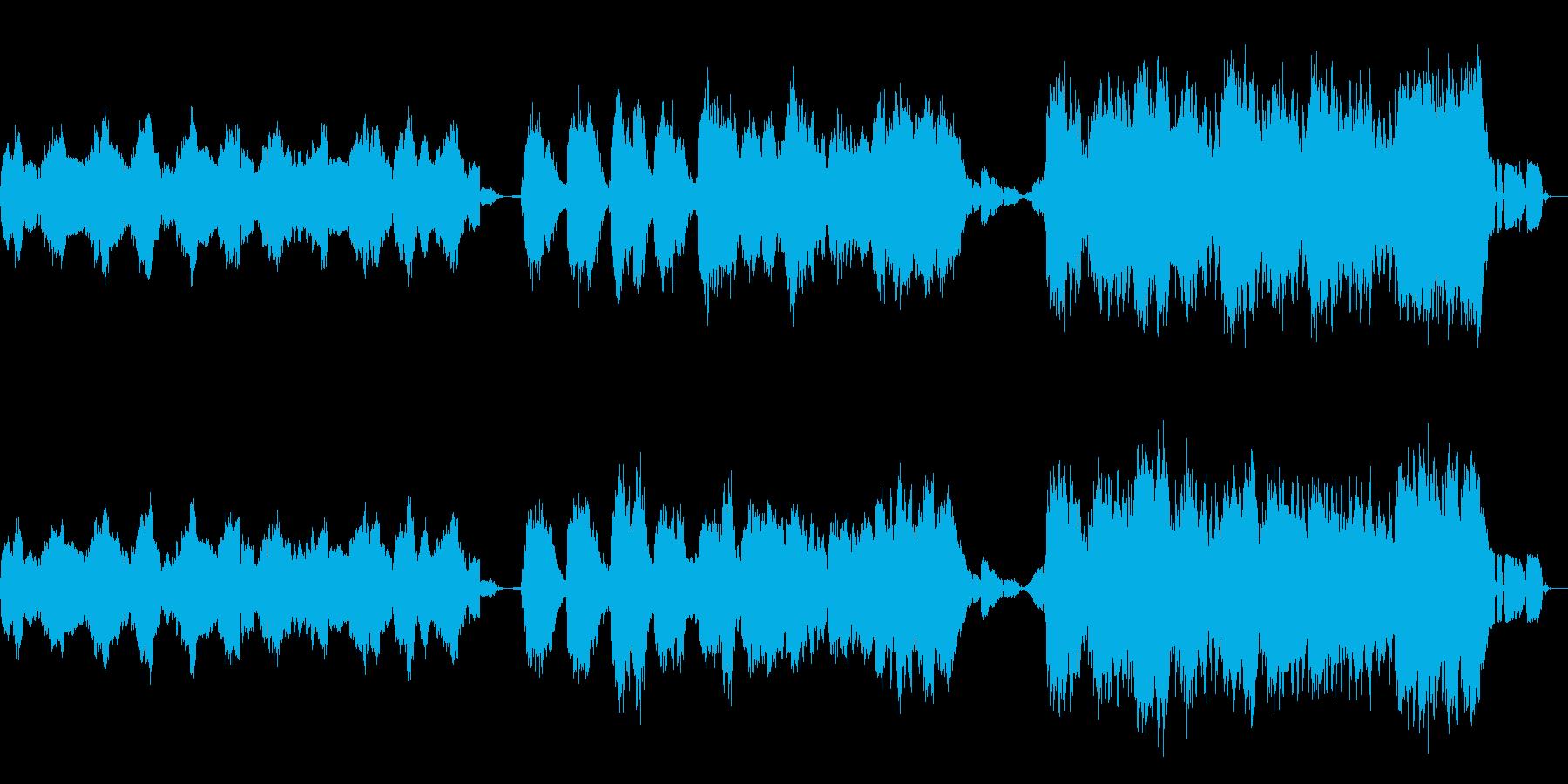 サイレントナイトを切なくアンビエントにの再生済みの波形