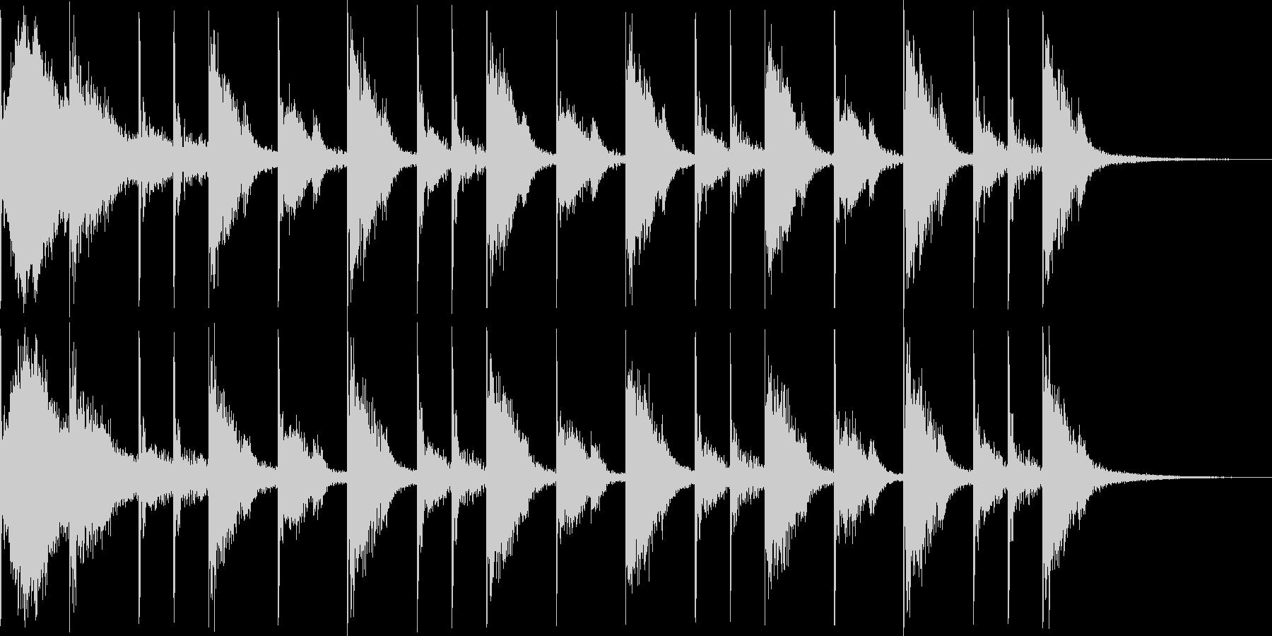 リアルなドラム8ビートです。の未再生の波形