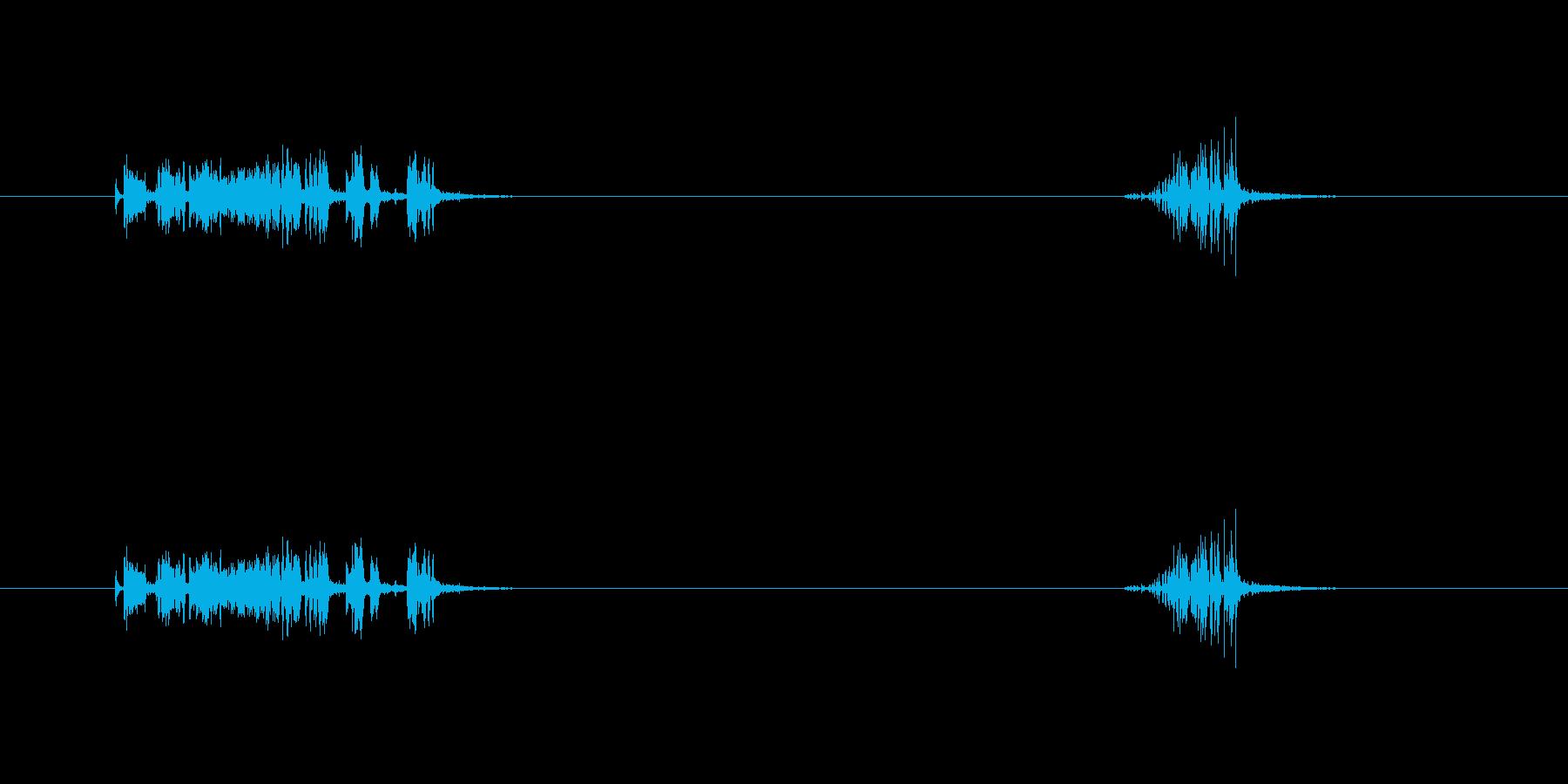 【ガムテープ01-2(引く・切る)】の再生済みの波形