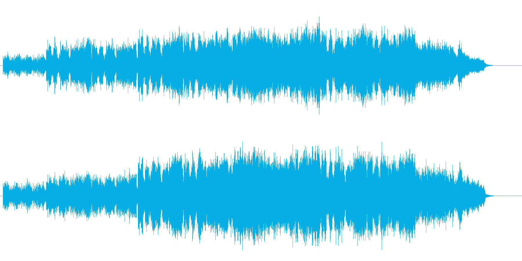 ギターの音が少しなつかしいテイストの再生済みの波形
