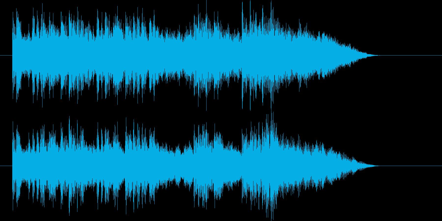 柔らかい溶け合い感のある17秒の再生済みの波形