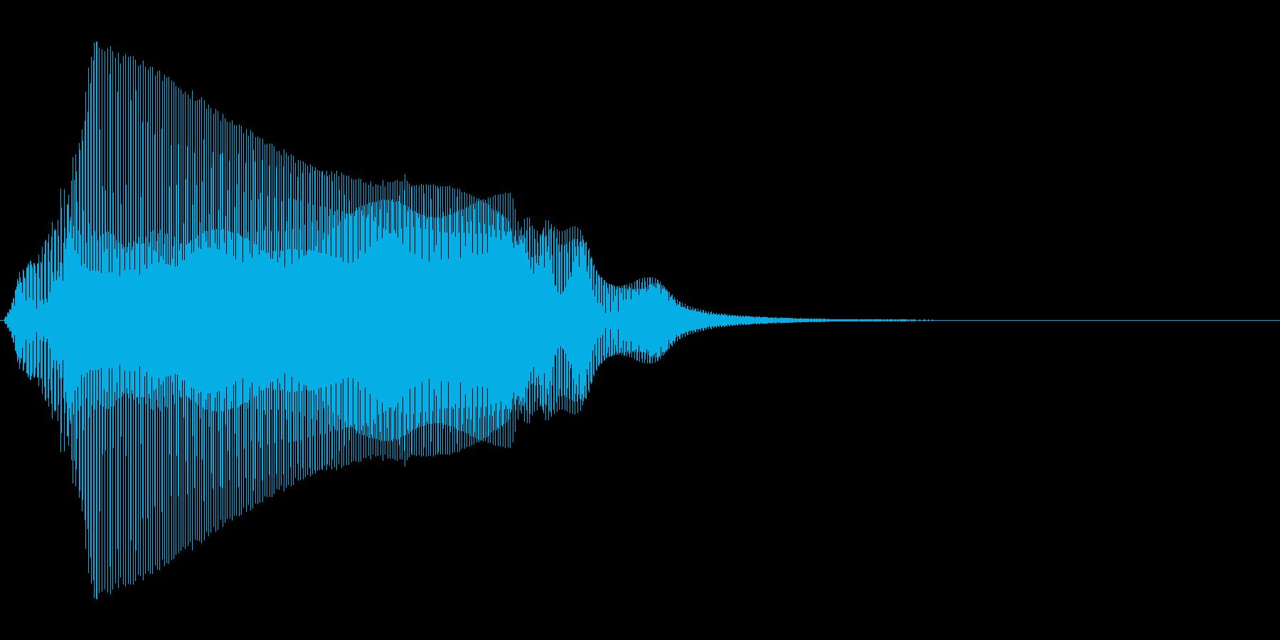 猫の鳴き声 1B にゃ~おの再生済みの波形