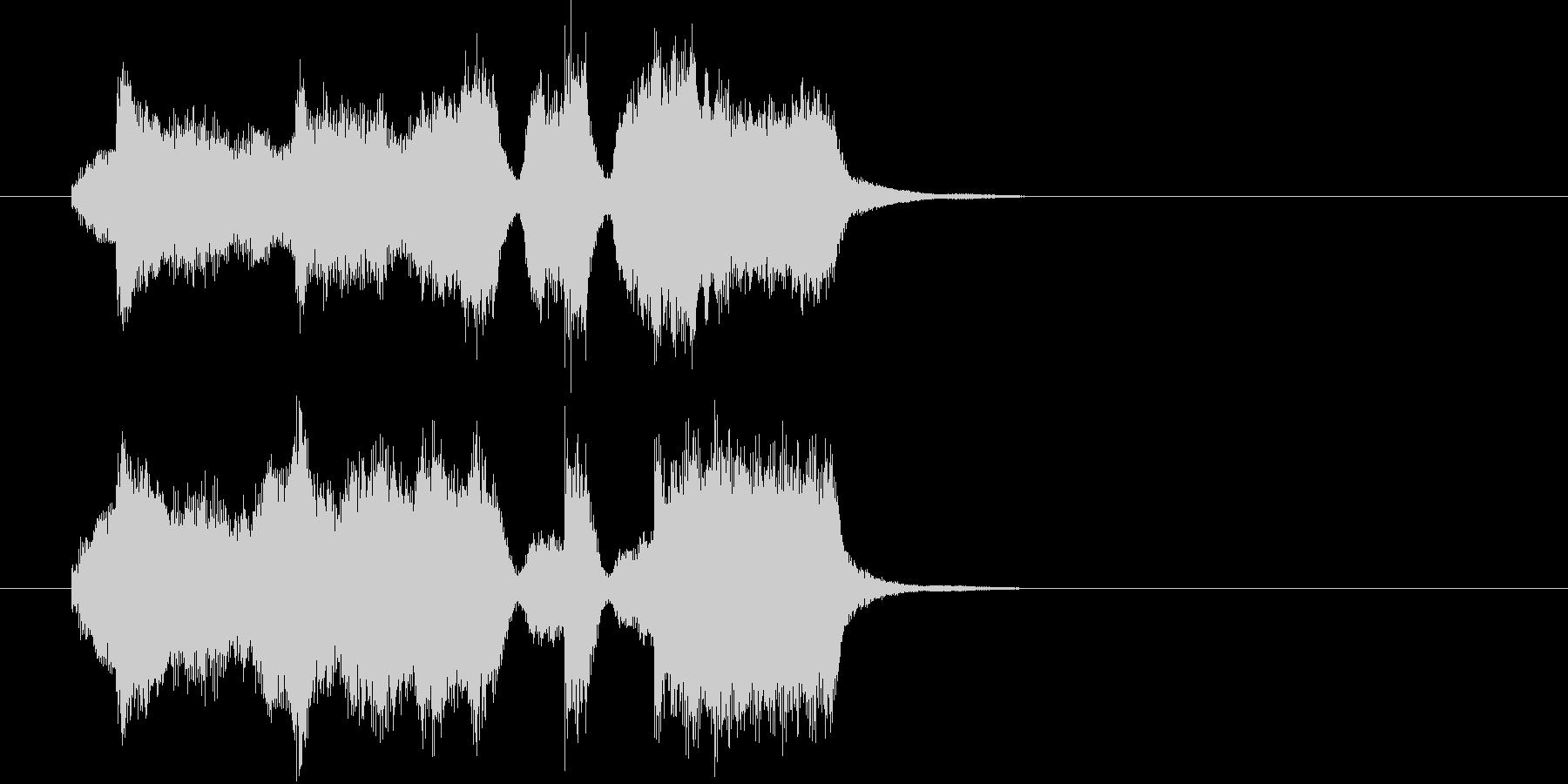 弦楽四重奏による場面転換・アイキャッチの未再生の波形