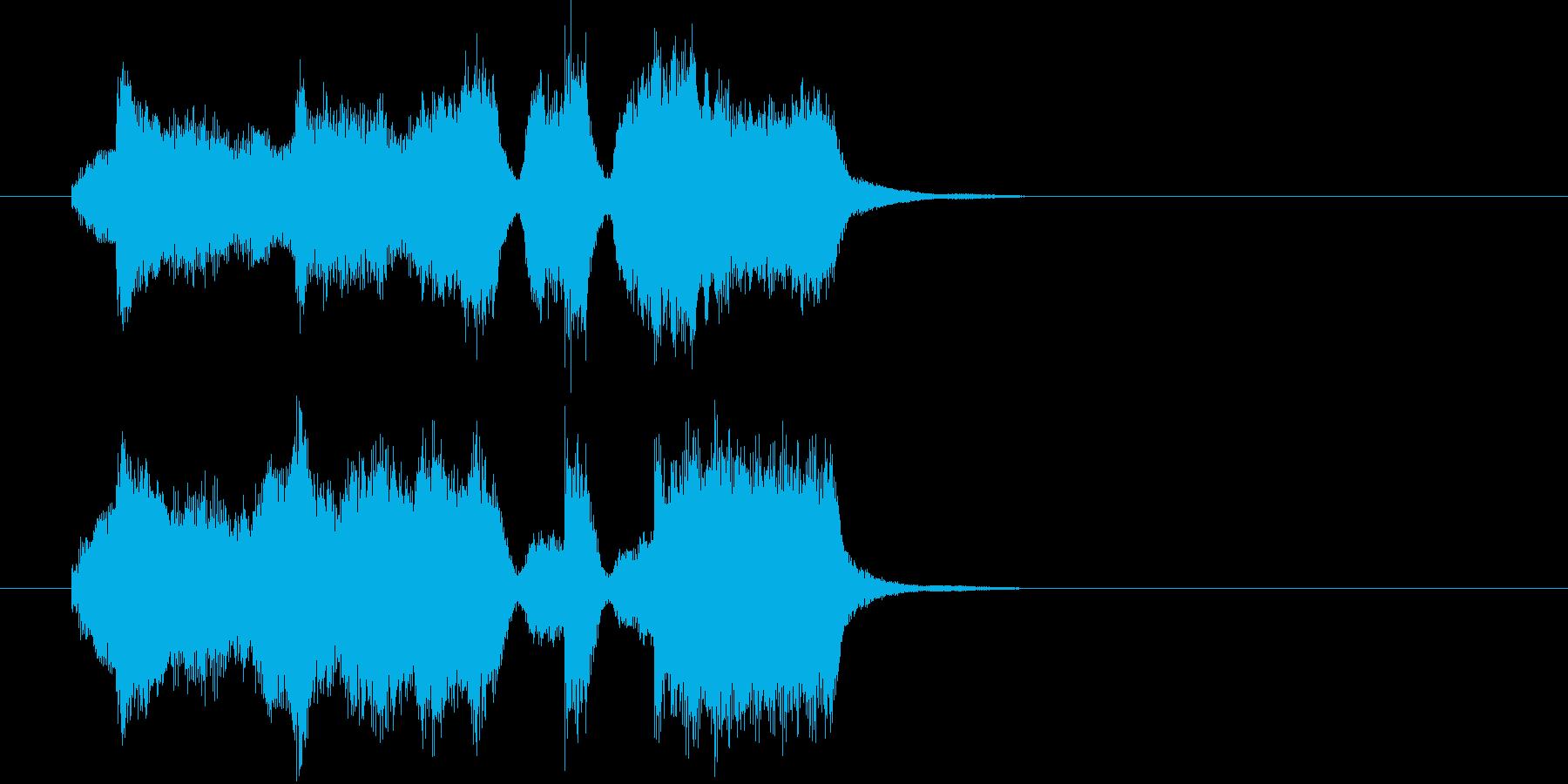 弦楽四重奏による場面転換・アイキャッチの再生済みの波形