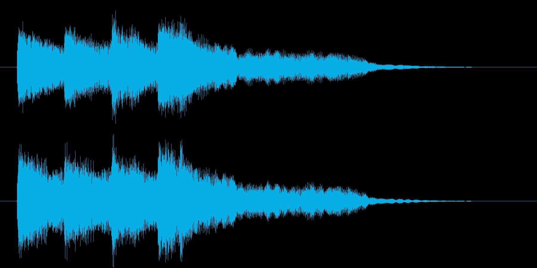 ピンポンパンポン(上昇)の再生済みの波形