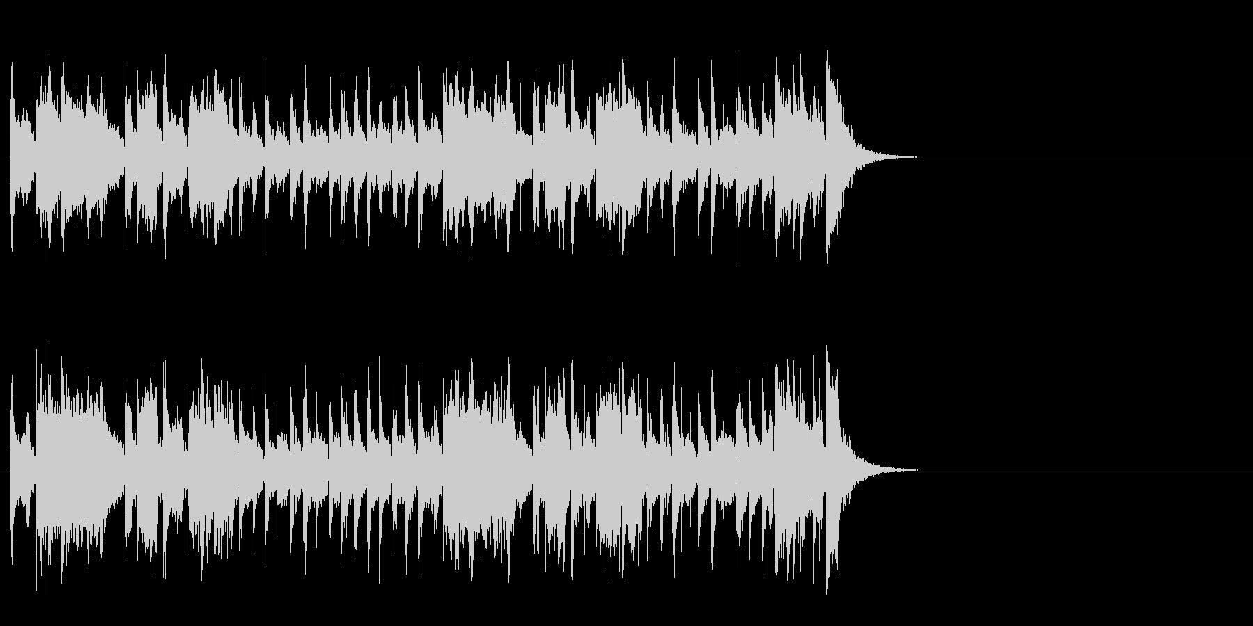軽快なポップ R&R(Aメロ)の未再生の波形