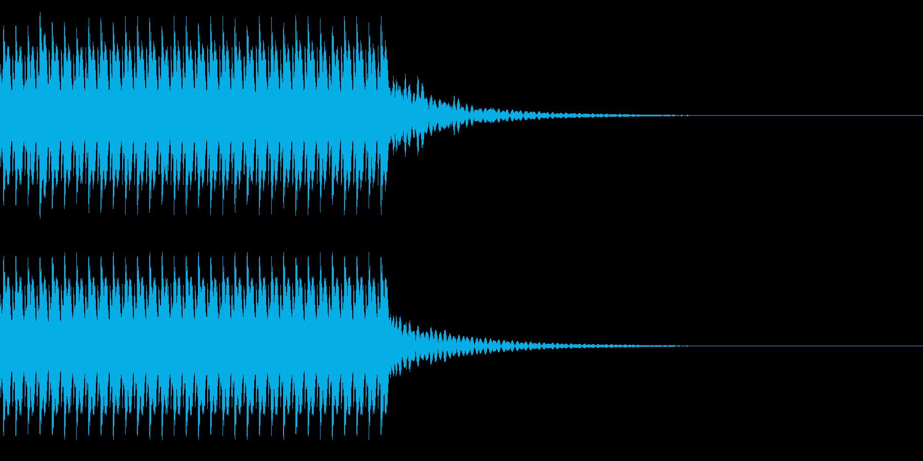 ゲームでコイン獲得や得点の計算中の音の再生済みの波形