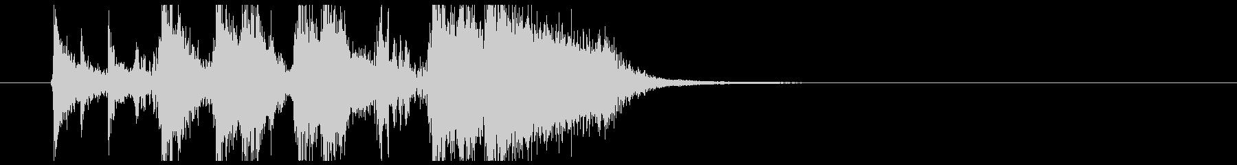 ファンキーなブラスのアイキャッチジングルの未再生の波形