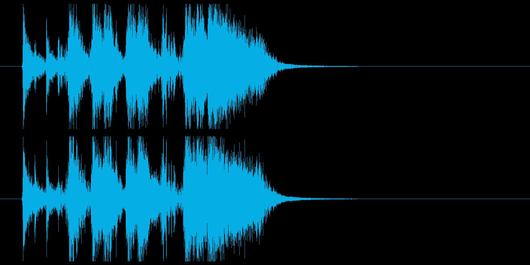 ファンキーなブラスのアイキャッチジングルの再生済みの波形