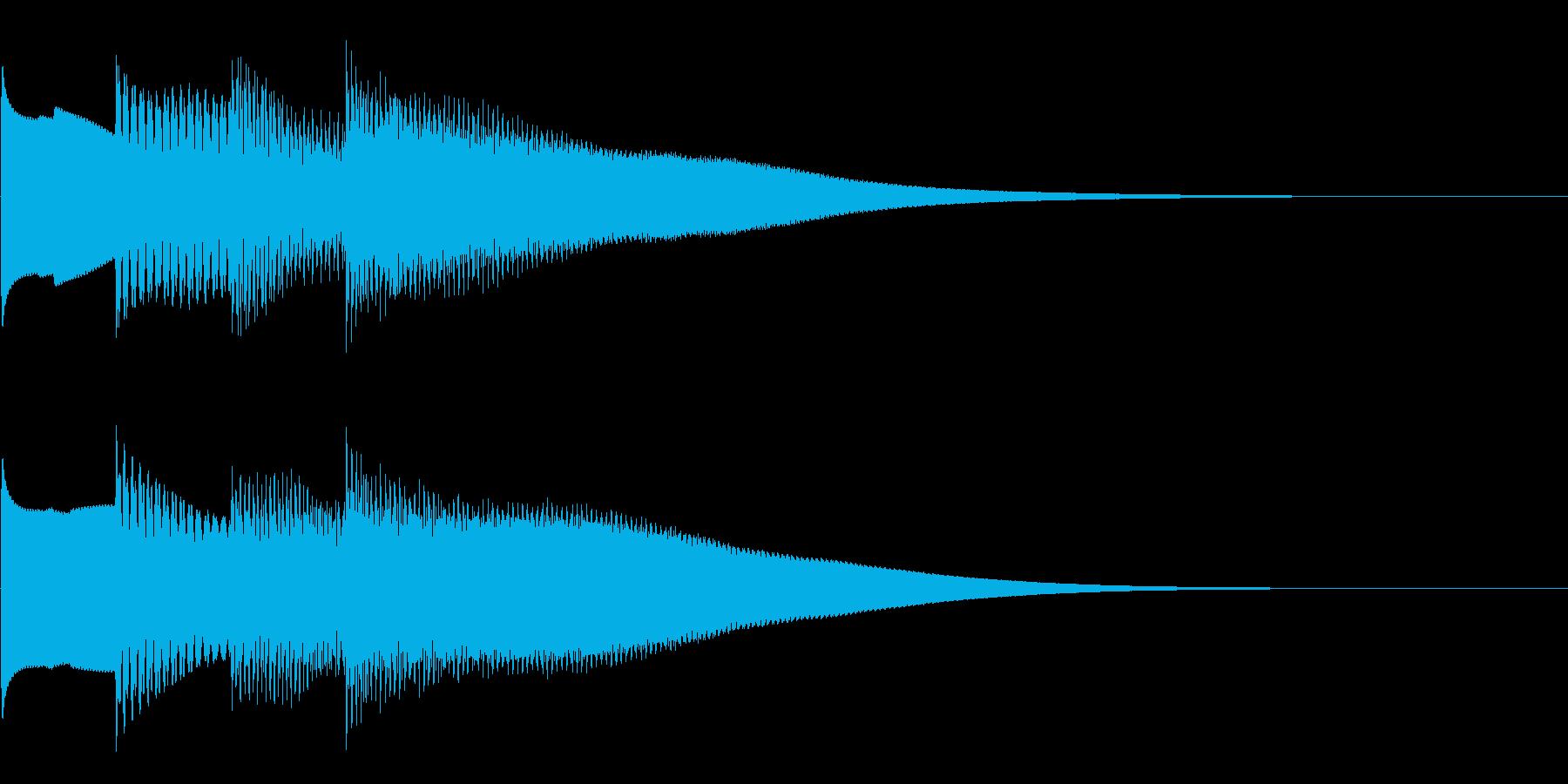 可愛いベルの音。きらららん。下降系。の再生済みの波形