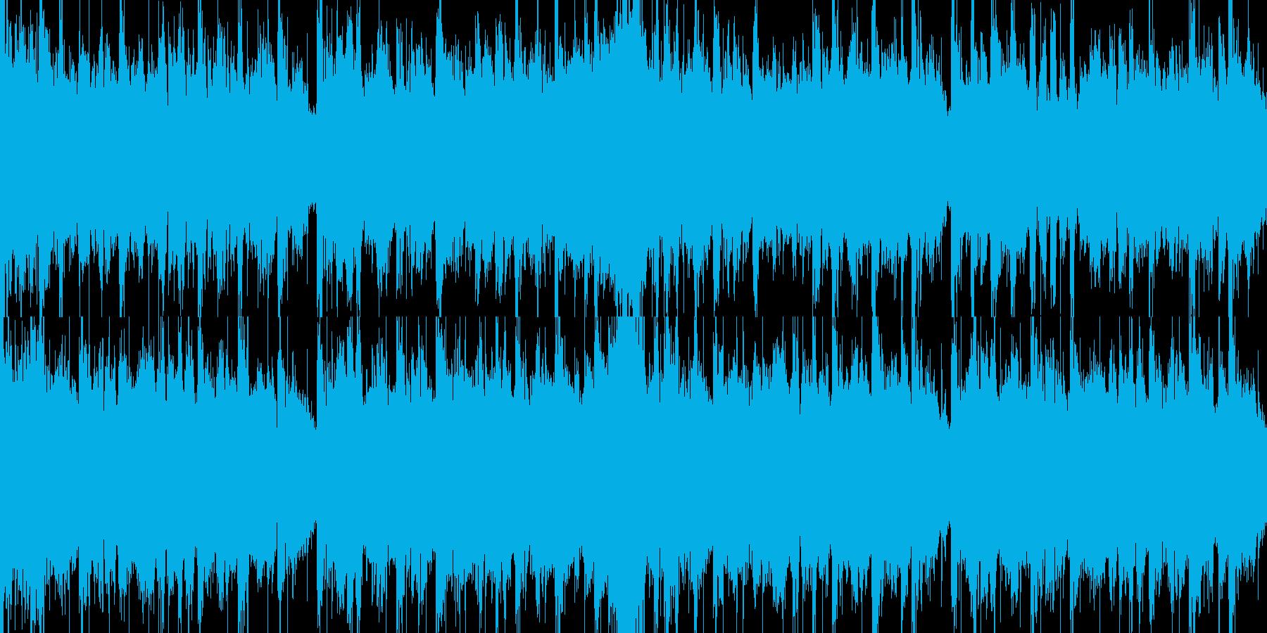 クリスマス風のノリの良い曲の再生済みの波形
