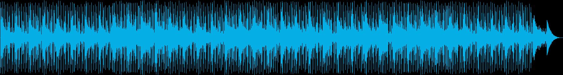穏やかなアンビエント系ディープハウスの再生済みの波形