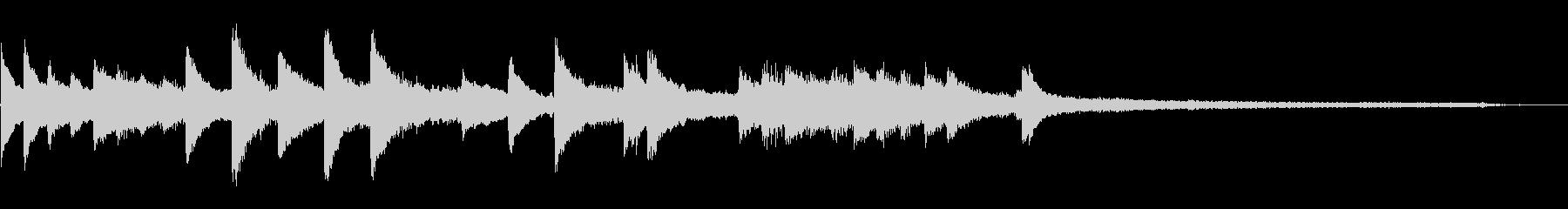 穏やかなジングル(ピアノ・ストリングス)の未再生の波形