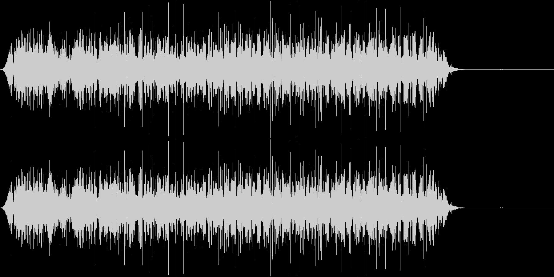 ビニール袋をぐしゃぐしゃする音の未再生の波形