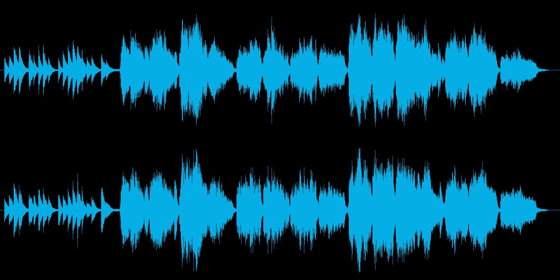 ブルグミュラー作曲「Ave Maria」の再生済みの波形