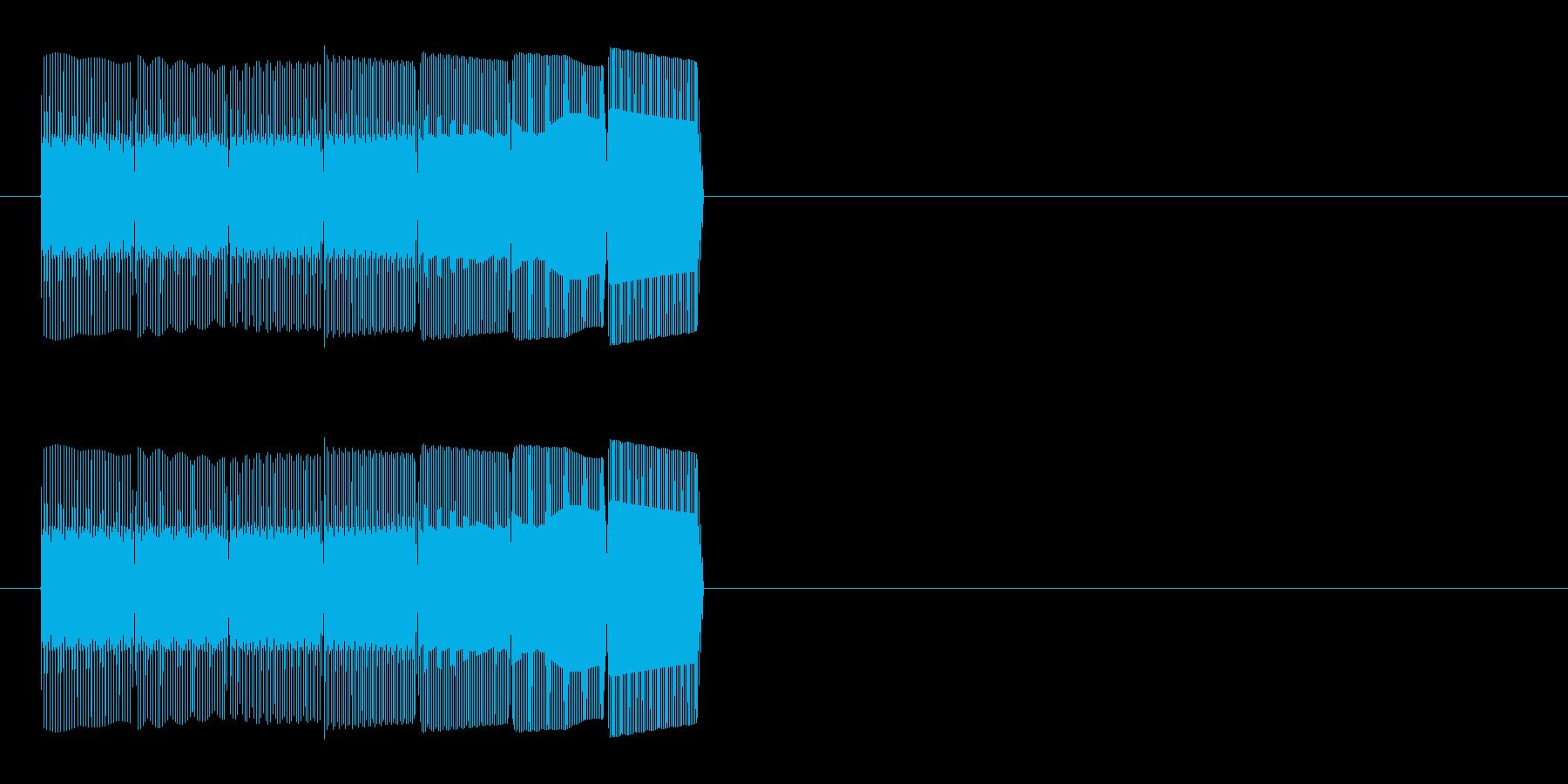 テレレレレン(アップする音)の再生済みの波形
