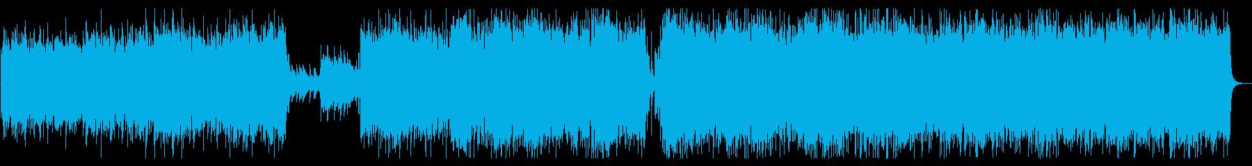 戦闘シーン:ダークでヘヴィなヴァイオリンの再生済みの波形