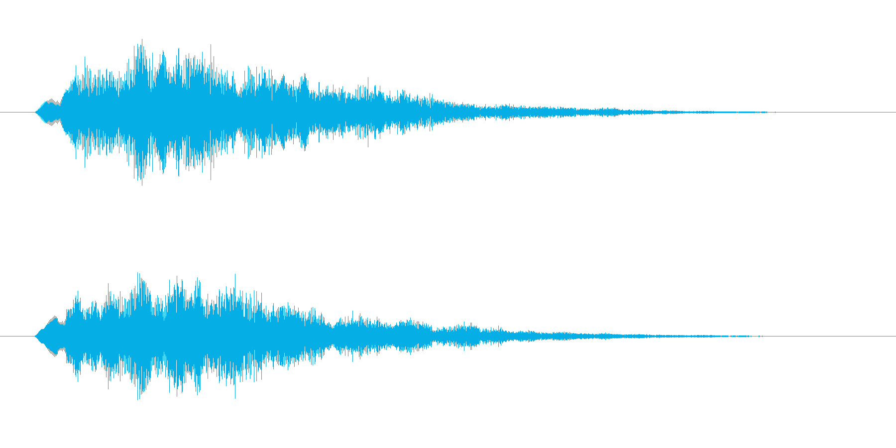 スタート・決定音・アイテムゲットなどにの再生済みの波形