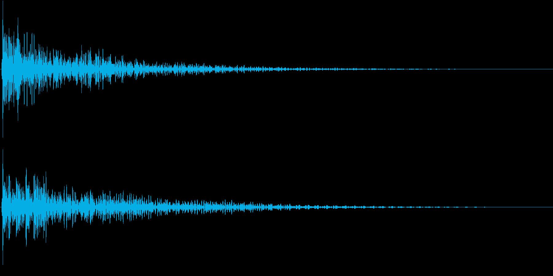 タッチ音 Low (ド――ン)の再生済みの波形