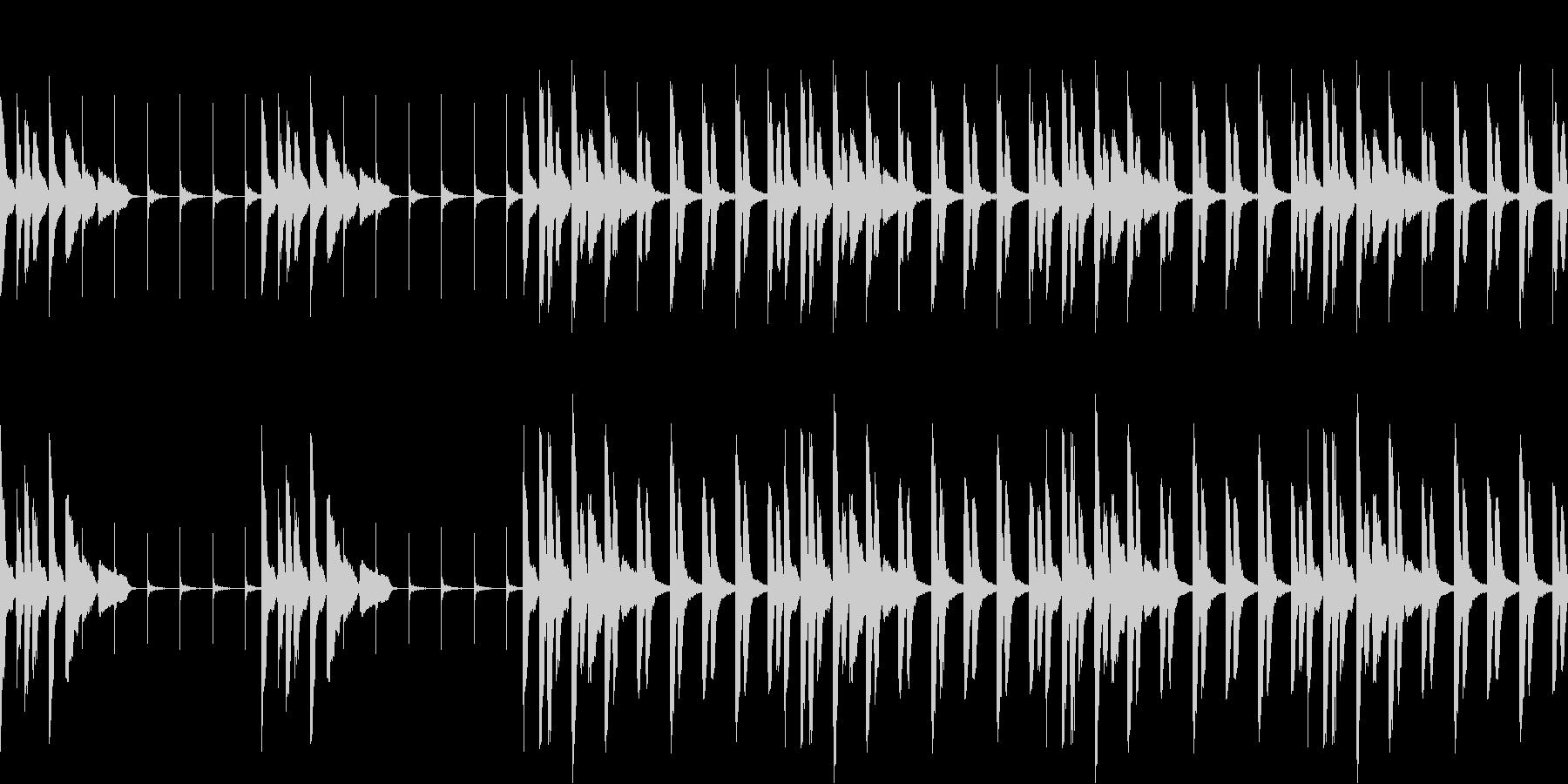ゆるく迷っている時の曲(ループ仕様)の未再生の波形