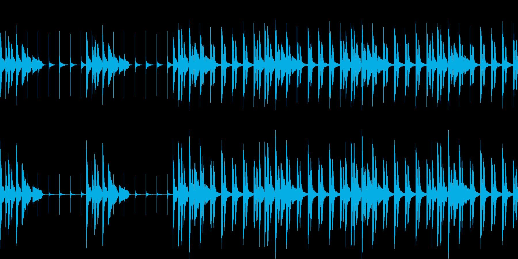 ゆるく迷っている時の曲(ループ仕様)の再生済みの波形