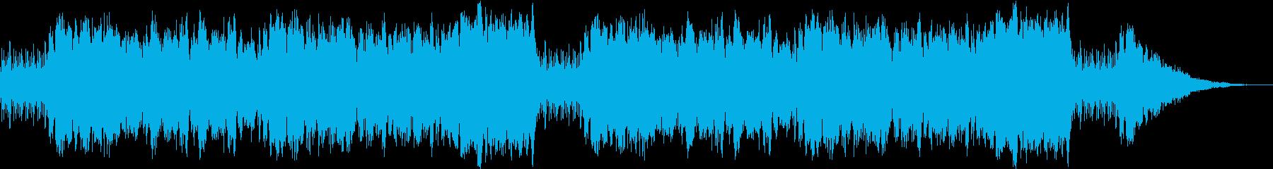 ハープの穏やかなリズムの楽曲の再生済みの波形