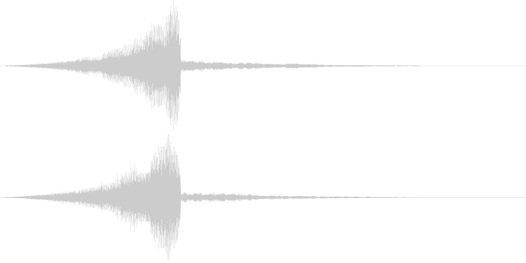 レーザーが迫ってくる音の未再生の波形
